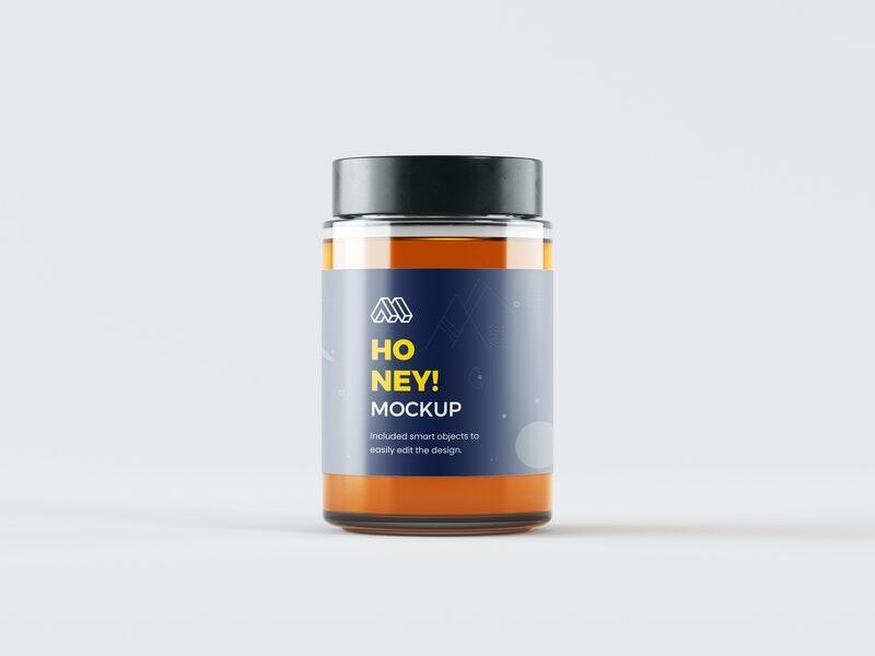 Honey Jar Free Mockup