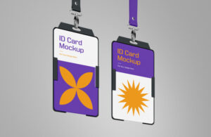 ID Card Holder Free Mockup
