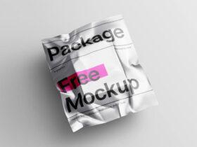 Metallic Package Free Mockup