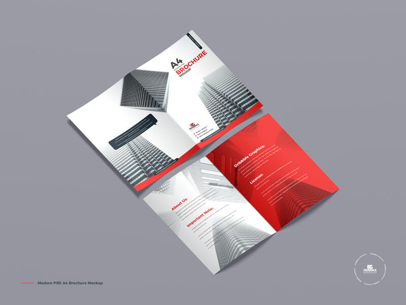 Modern PSD A4 Brochure Free Mockup