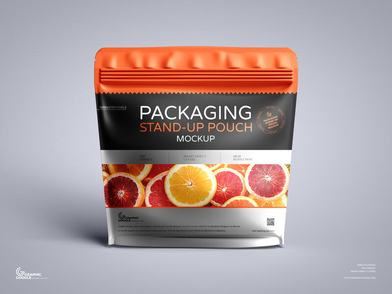 Packaging Stand-up Pouch Free Mockup