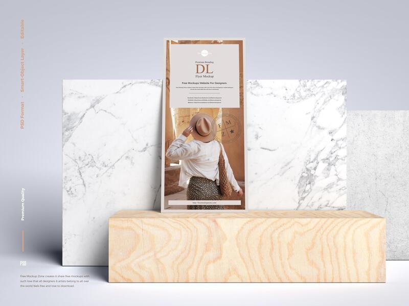 Premium Branding DL Flyer Free Mockup