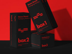 Product Packaging Boxes Free Mockup