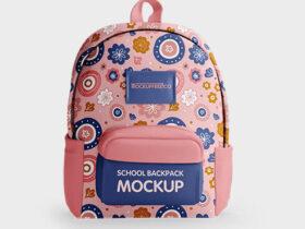 School Backpack Free Mockup