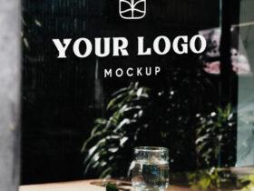 Shop Glass Window Signage Free Mockup