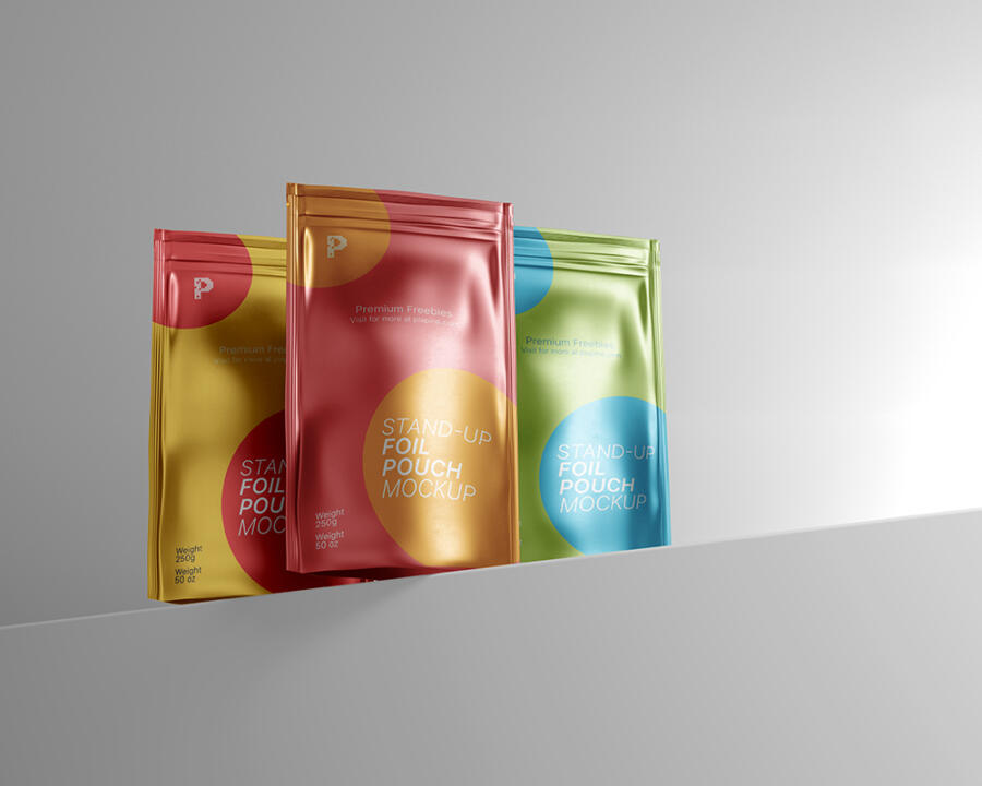 Stand-up Foil Pouch Free Mockup