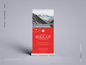 Standee Roll-Up Banner Free Mockup
