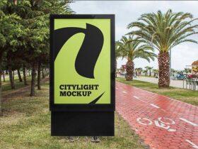 Free Citylight Advertising Poster Mockup