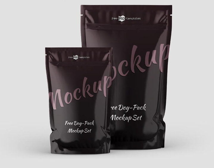 Free Doy Pack Mockup Set