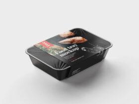 Free Food Tray Mockup (PSD)