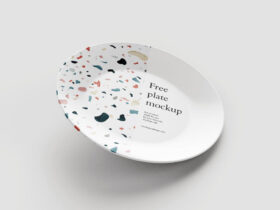Free Plate Mockup (PSD)