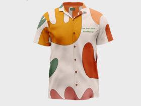 Free Short Sleeve Shirt Mockup