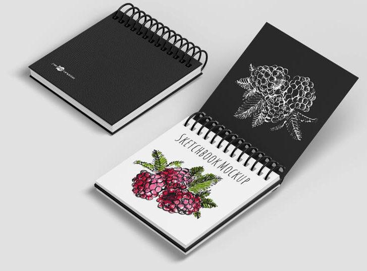Free Sketchbook Mockup Set