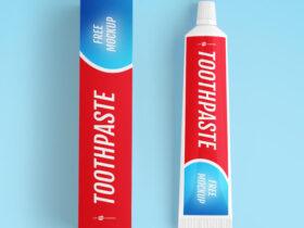 Free Toothpaste Mockup (PSD)