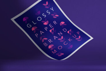 Glossy Branding Paper Free Mockup