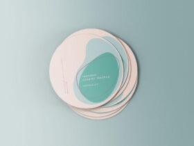 Minimal Rounded Coasters Free Mockup