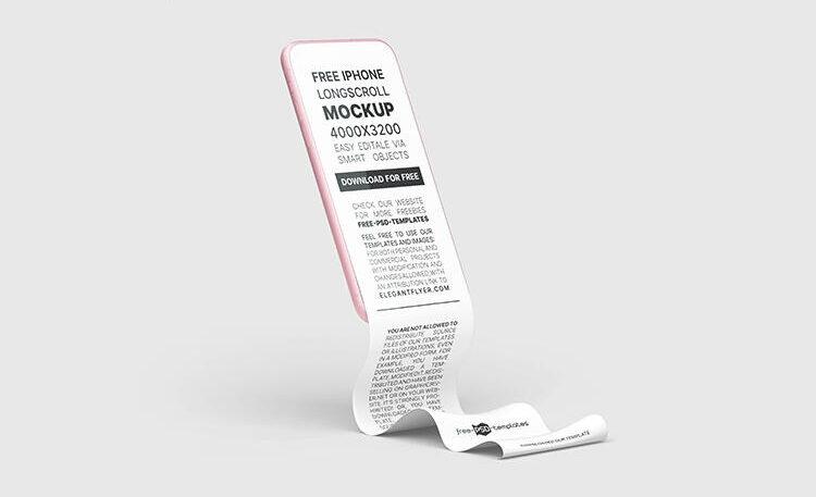 Phone Long Scroll Free Mockup