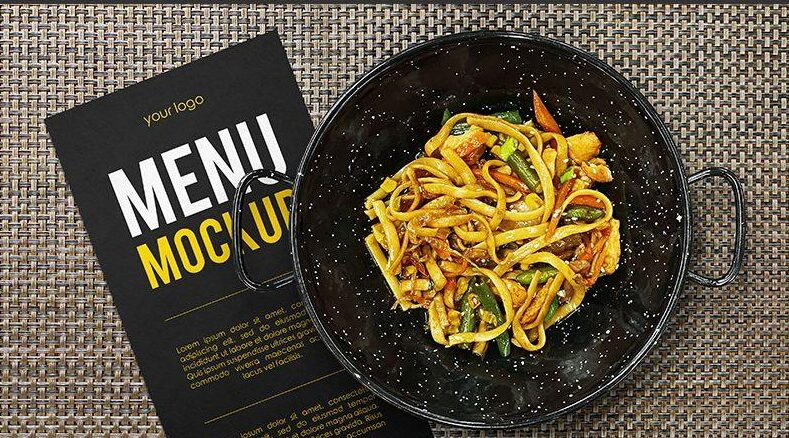Restaurant Menu Concept Free Mockup