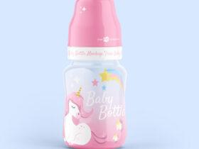 Baby Bottle Free Mockup