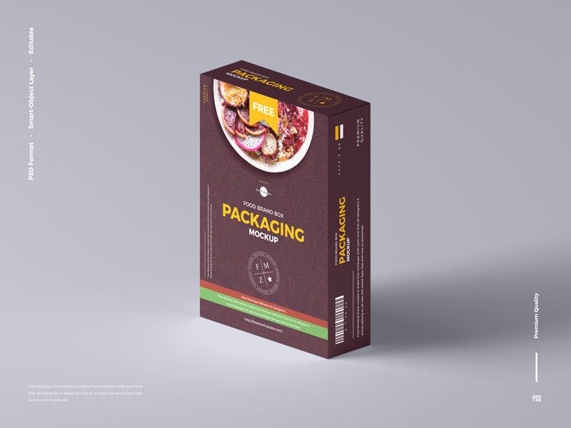 Food Brand Box Packaging Free Mockup