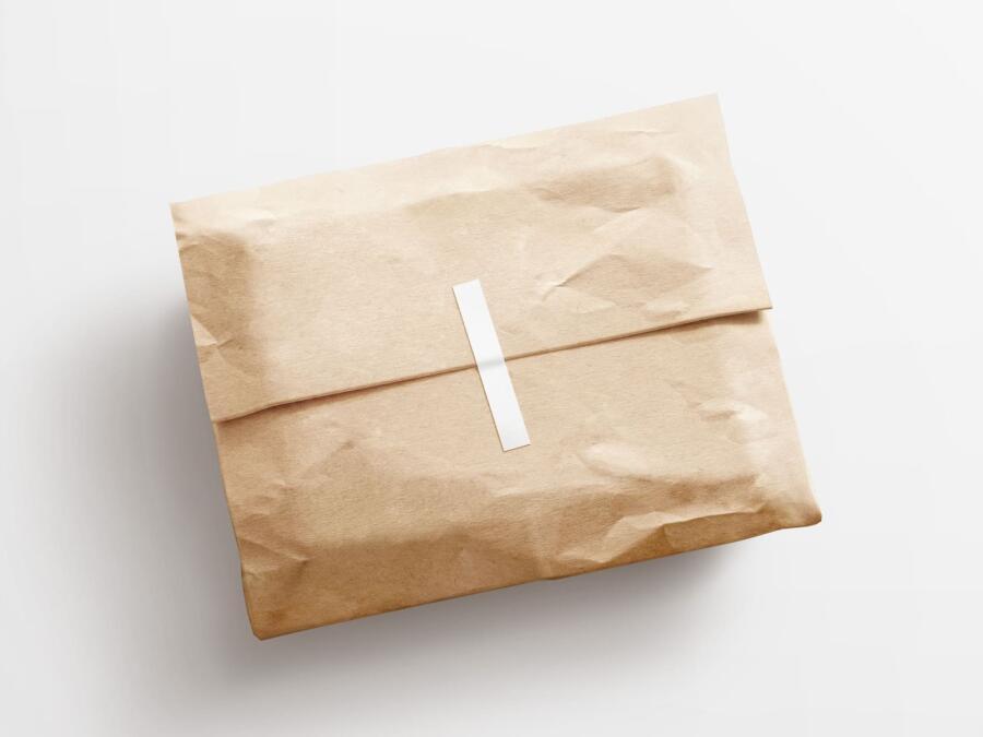 Free Kraft Paper Postal Package
