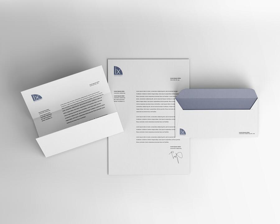 Free Letterhead & Envelope Mockup