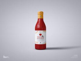 Free Sauce And Ketchup Bottle Mockup