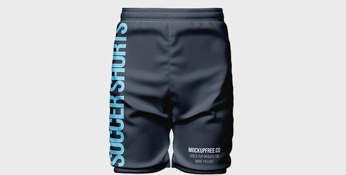 Free Soccer Shorts Mockup