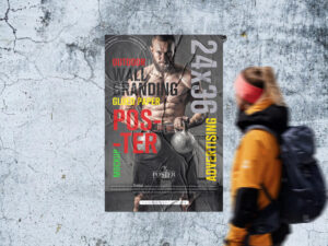 Outdoor Wall Branding 24×36 Glued Paper Poster Mockup