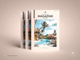 Modern Branding Magazine Free Mockup (PSD)
