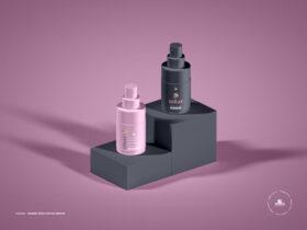 Modern Spray Bottle Free Mockup
