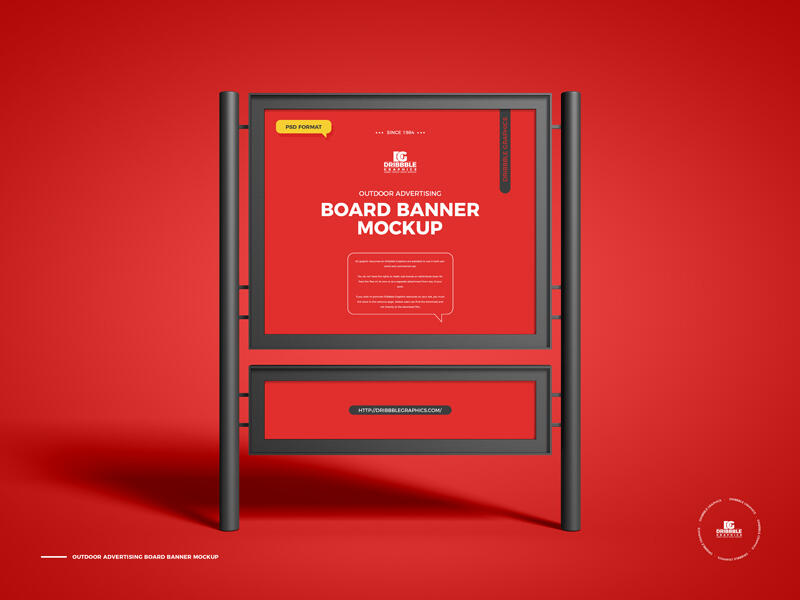 Outdoor Advertising Board Banner Free Mockup