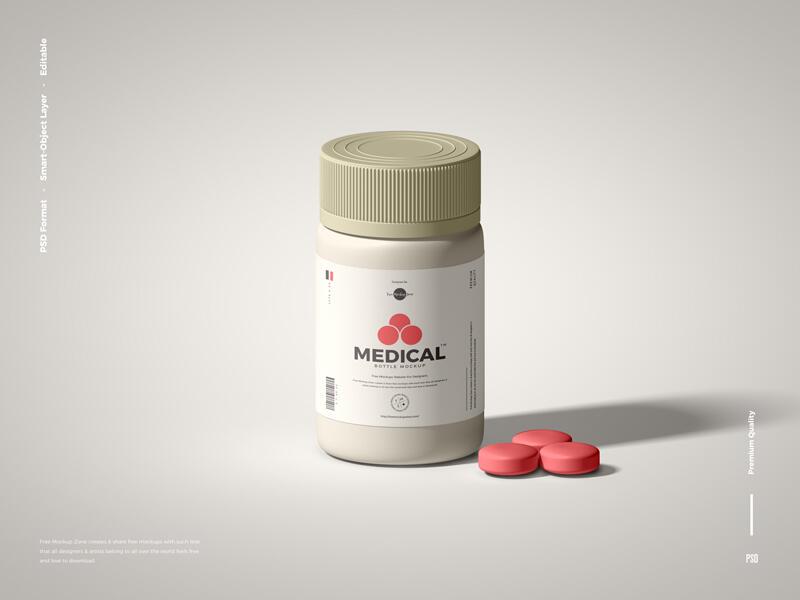 Packaging Medical Bottle Free Mockup
