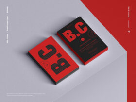 Branding Stack of Business Card Free Mockup