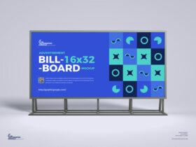 Free Advertisement 16×32 Billboard Mockup