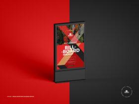 Free Brand Advertising Billboard Mockup