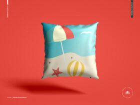 Free Floating Pillow Mockup