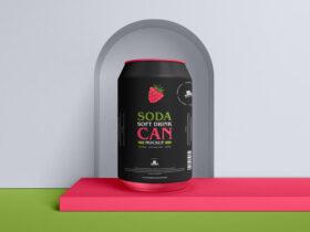 Free Soda Soft Drink Can Mockup