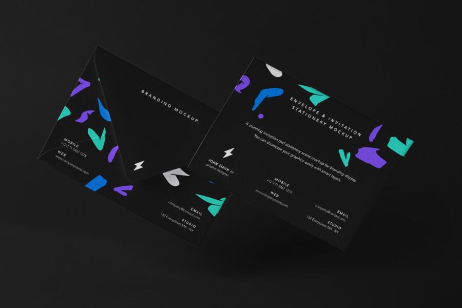 Free Stationery Envelope Mockup Set