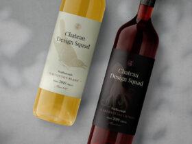 Free Wine Bottle Mockup
