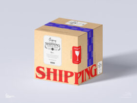 Shipping Delivery Box Free Mockup