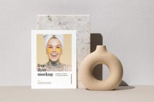 Single Letter Flyer Free Mockup