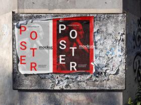 Street Poster Free Mockup